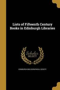 LISTS OF 15TH CENTURY BKS IN E