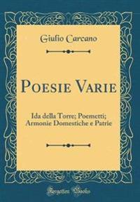 Poesie Varie