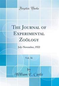 The Journal of Experimental Zooelogy, Vol. 36