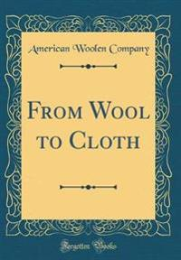 From Wool to Cloth (Classic Reprint)