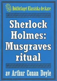 Sherlock Holmes: Äventyret med Musgraves ritual – Återutgivning av text från 1947
