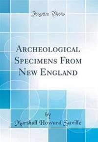 Archeological Specimens From New England (Classic Reprint)