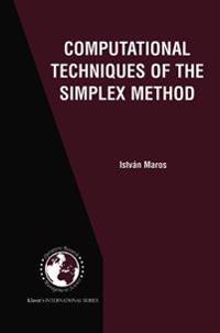 Computational Techniques of the Simplex Method