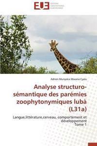 Analyse Structuro-Semantique Des Paremies Zoophytonymiques Luba (L31a)