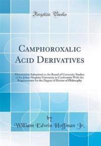Camphoroxalic Acid Derivatives
