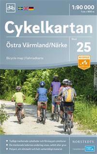 Cykelkartan Blad 25 Östra Värmland/Närke : Skala 1:90.000