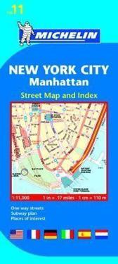 Michelin New York City Manhattan Street Map and Index