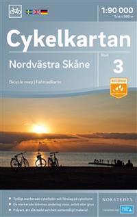 Cykelkartan Blad 3 Nordvästra Skåne : Skala 1:90.000
