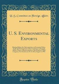 U. S. Environmental Exports