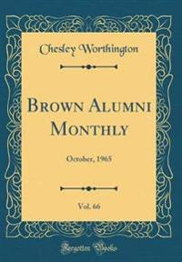 Brown Alumni Monthly, Vol. 66