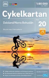 Cykelkartan Blad 20 Dalsland/Norra Bohuslän : Skala 1:90.000