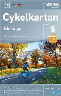 Cykelkartan Blad 5 Blekinge : Skala 1:90.000