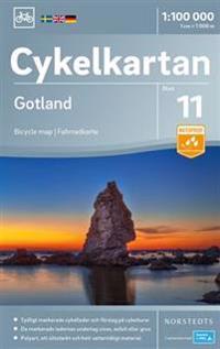 Cykelkartan Blad 11 Gotland : Skala 1:100.000