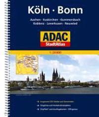 ADAC Stadtatlas Köln, Bonn, Aachen, Euskirchen, Gummersbach, Koblenz, Leverkusen 1:20000