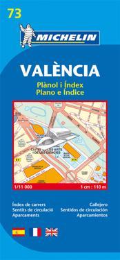 Valencia Michelin 73 stadskarta : 1:11000