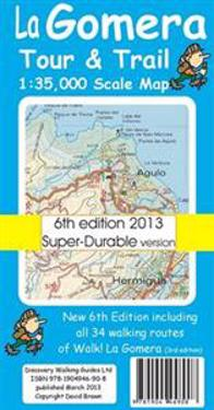 La Gomera TourTrail Super-durable Map