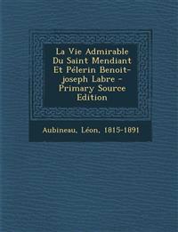 La Vie Admirable Du Saint Mendiant Et Pelerin Benoit-Joseph Labre - Primary Source Edition