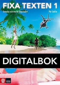 Fixa texten 1 Digital, andra upplagan - Pär Sahlin pdf epub