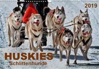 Huskies - Schlittenhunde (Wandkalender 2019 DIN A3 quer)