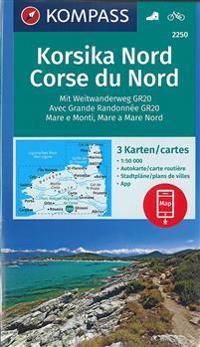 Korsika Nord, Corse du Nord, Weitwanderweg GR20 1 : 50 000