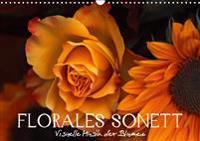 Florales Sonett - Visuelle Musik der Blumen (Wandkalender 2019 DIN A3 quer)