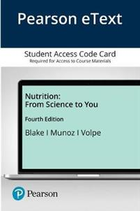 Pearson Etext Nutrition: From Science to You -- Access Card