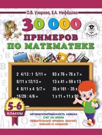 30000 primerov po matematike. 5 - 6 klassy