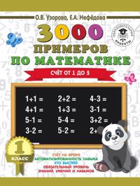 3000 primerov po matematike. 1 klass. Schjot ot 1 do 5.