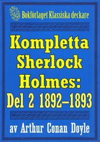Kompletta Sherlock Holmes. Del 2 - åren 1892-1893