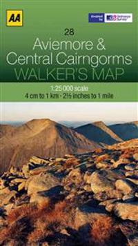 Aa Aviemore & Central Cairngorms Walker's Map