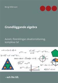 Grundläggande algebra : axiom, förenklingar, ekvationslösning, komplexa tal