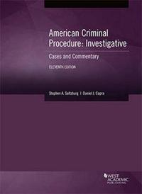 American Criminal Procedure, Investigative