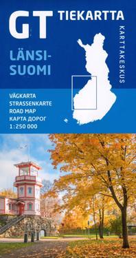 GT tiekartta Länsi-Suomi , 1: 250 000