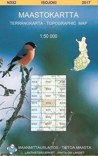 Maastokartta N332 Isojoki 1:50 000