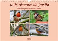 Jolis oiseaux de jardin 2019