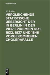 Vergleichende Statistische Uebersicht Der in Berlin in Den Vier Epidemien 1831, 1832, 1837 Und 1848 Vorgekommenen Cholerafälle