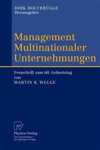 Management Multinationaler Unternehmungen/ Management Multinational Enterprises