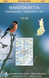 Maastokartta N531 Savonlinna 1:50 000