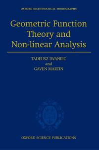 Geometric Function Theory and Non-linear Analysis