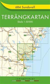 684 Sundsvall Terrängkartan : 1:50000
