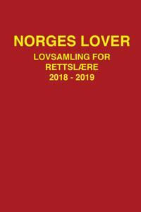 Norges lover; lovsamling for rettslære 2018-2019