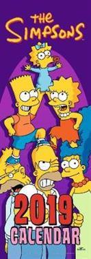 The Simpsons Slim Official 2019 Calendar - Slim Wall Calendar Format
