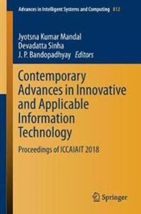 Contemporary Advances in Innovative and Applicable Information Technology