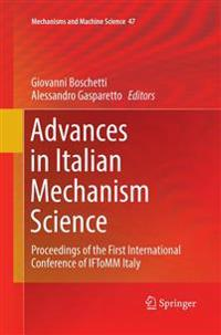 Advances in Italian Mechanism Science
