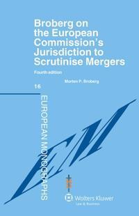 Broberg on The European Commission´s jurisdiction to scrutinise mergers