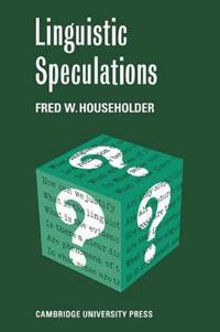Linguistic Speculations