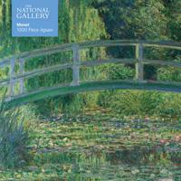 Adult Jigsaw National Gallery Monet: Bridge Over Lily Pond: 1000 Piece Jigsaw