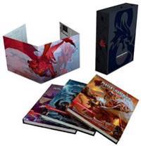 Dungeons & Dragons Core Rulebooks Gift Set (Special Foil Covers Edition with Slipcase, Player's Handbook, Dungeon Master's Guide, Monster Manual, DM Screen)