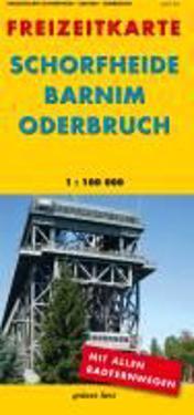 Freizeitkarte Schorfheide / Barnim / Oderbruch  1:100 000