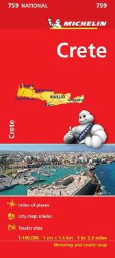 Kreta Michelin 759 karta : 1:140000